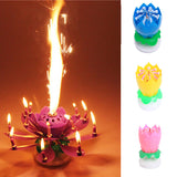 Rotating Magical Music Playing Flower Candle