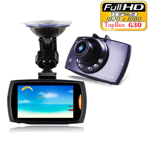 "Car Dvr G30 2.7"" Full HD 1080P Car Camera Recorder Motion Detection Night Vision G-Sensor Dashcam Cyclic Recording - Rakupos"