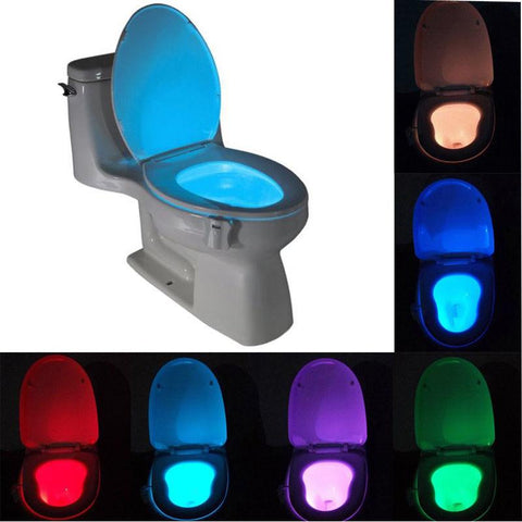 Body Motion Toilet Light Sensor Toilet Seat LED Lamp Motion Activated Toilet Bowl Night Light - Rakupos