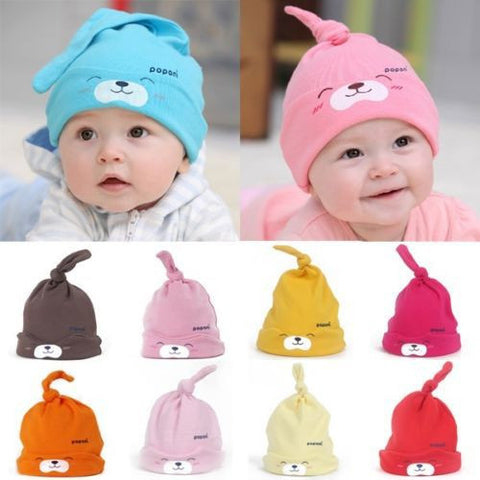 Cartoon Baby Girls Boys Toddlers Cotton Sleep Cap Headwear - Rakupos
