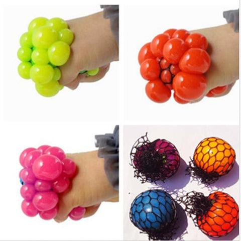 Anti Stress Face Reliever Grape Ball Autism Mood Squeeze Relief Healthy Toy Funny Geek Gadget - Rakupos