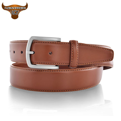 100% Cowhide Genuine Leather Belt for Men 100-135cm Pin Buckle