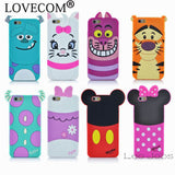 3D Cartoon Silicon Phone Case For iphone 6 6S 4.7