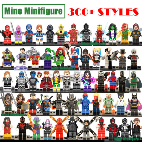 Building Blocks Minifigures Marvel DC superheroes Avengers Batman Spiderman deadpool iron man Toy figures Kids Toys Gifts