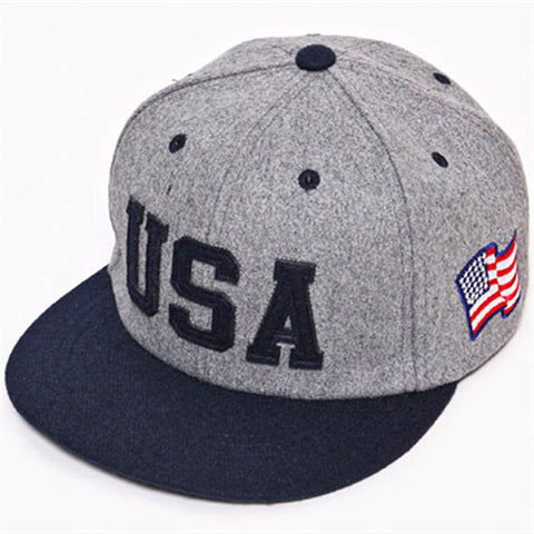 2014 new USA flag adjustable baseball snapback hats for men fashion sports hip hop cotton mens street headwear 3 colors cheap - Rakupos