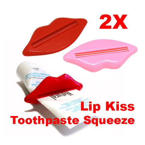 Lips Kiss Easy Press Tube Dispenser Toothpaste Squeezer Gadget - Rakupos