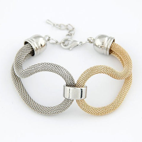 Alloy Chain Knitted Chunky Bracelets & Bangles - Rakupos