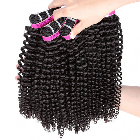 100% Remy Human Hair Yvonne Brazilian Kinky Curly Virgin Hair 3Pcs lot Brazilian Hair Weave Bundles Top Quality