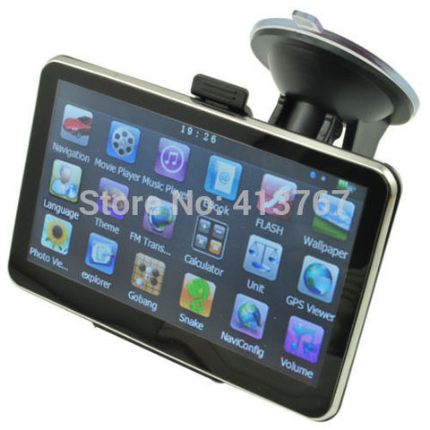 5 Inch Auto Car GPS Navigation Sat Nav 4GB latest Maps WinCE 6.0 FM support Multi-languages - Rakupos