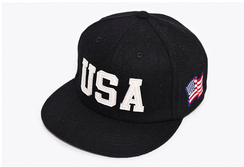 USA flag adjustable baseball snapback hats for men