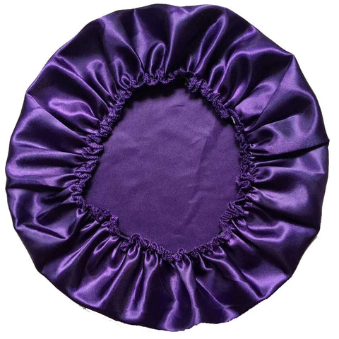 100% Polyester Satin Silky Feeling Night Sleep Cap Bonnet Cap 11colors - Rakupos