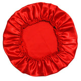 100% Polyester Satin Silky Feeling Night Sleep Cap Bonnet Cap 11colors