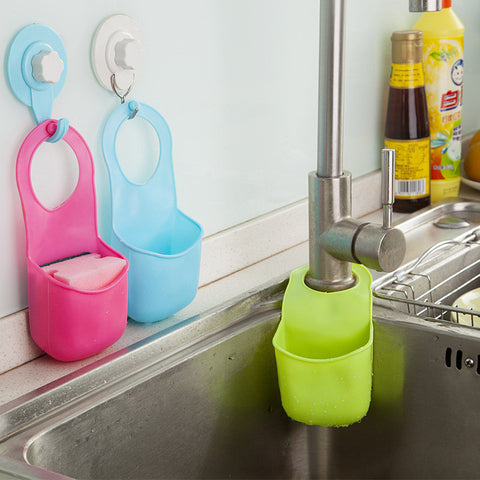 Creative Folding Hanging Silicone Bathroom kitchen Gadget storage Box Silicone Storage Bag - Rakupos