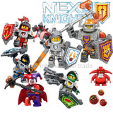 6pcs/lot Nexus Knights Future Knight Castle Warrior 2016 New Building Block Minifigures Bricks Kid Toy Gift - Rakupos