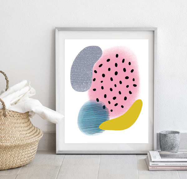 Abstract shapes print/ wall art