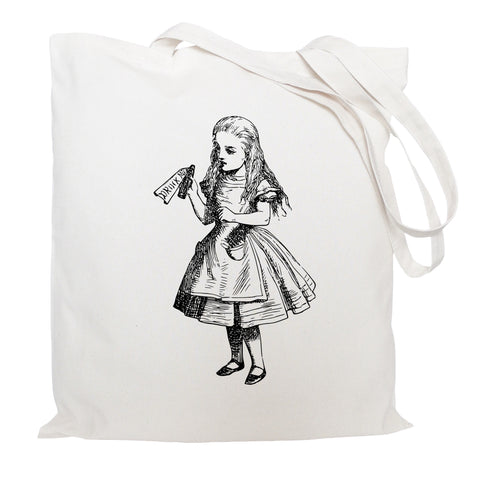 Drink me, Alice in Wonderland tote bag