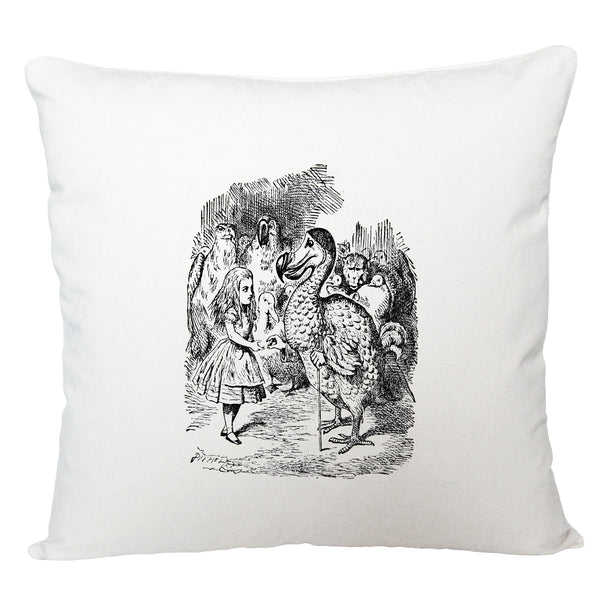 Alice in Wonderland cushion cover/ dodo