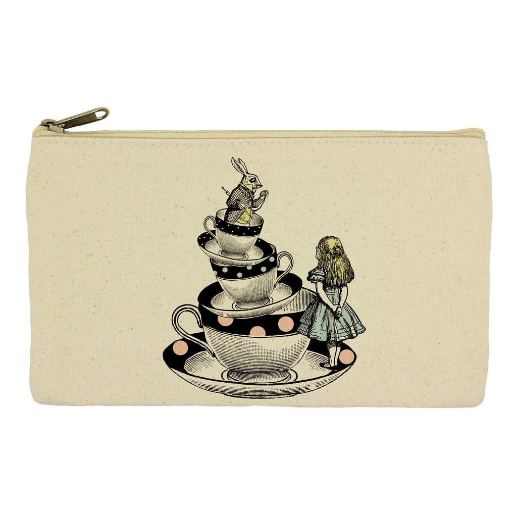 Alice in Wonderland in tea cups pencil case