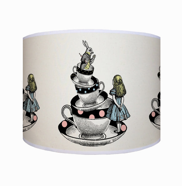 Alice in Wonderland in tea cups shade