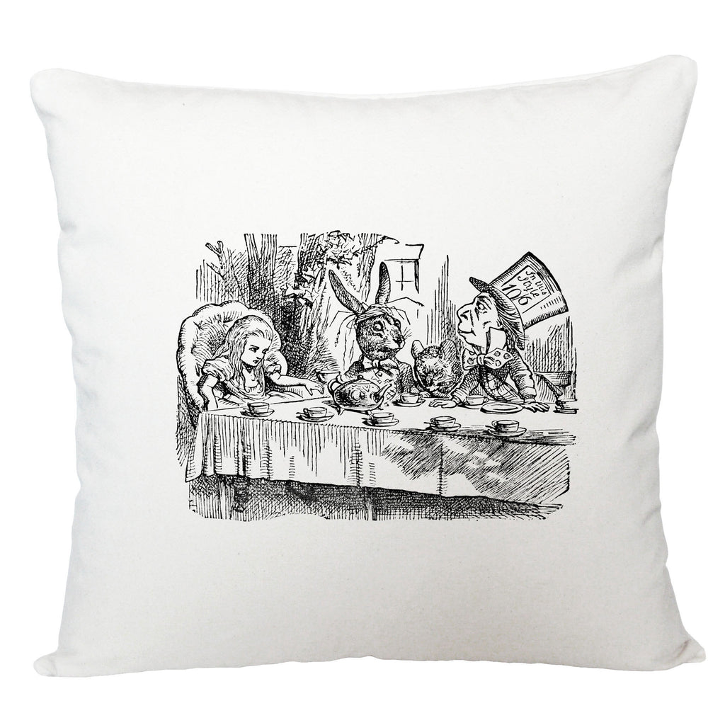 Alice in Wonderland cushion cover/ tea party