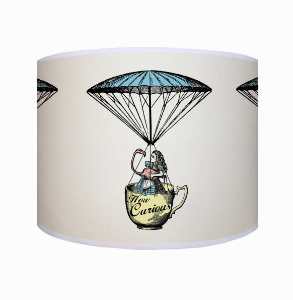 Alice in Wonderland with flamingo shade