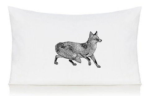 Black fox pillow case