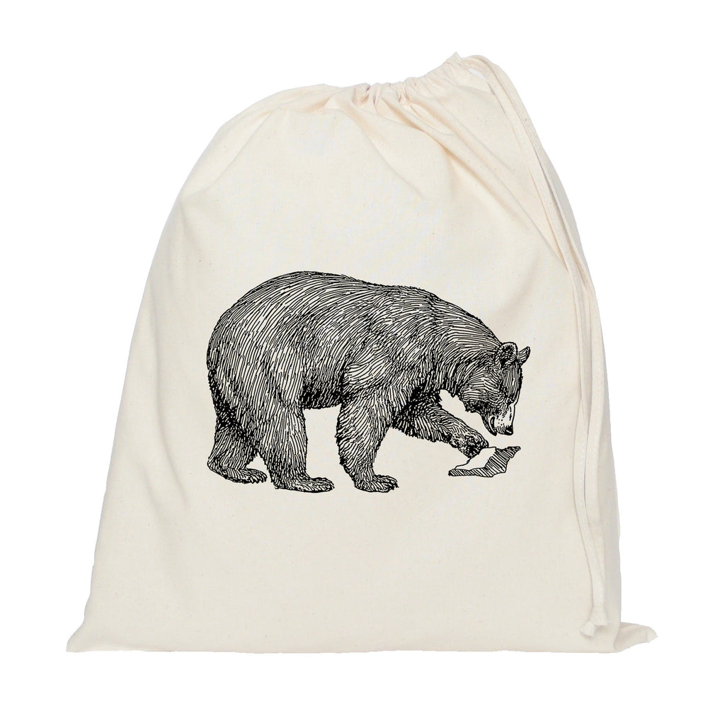 Bear drawstring bag