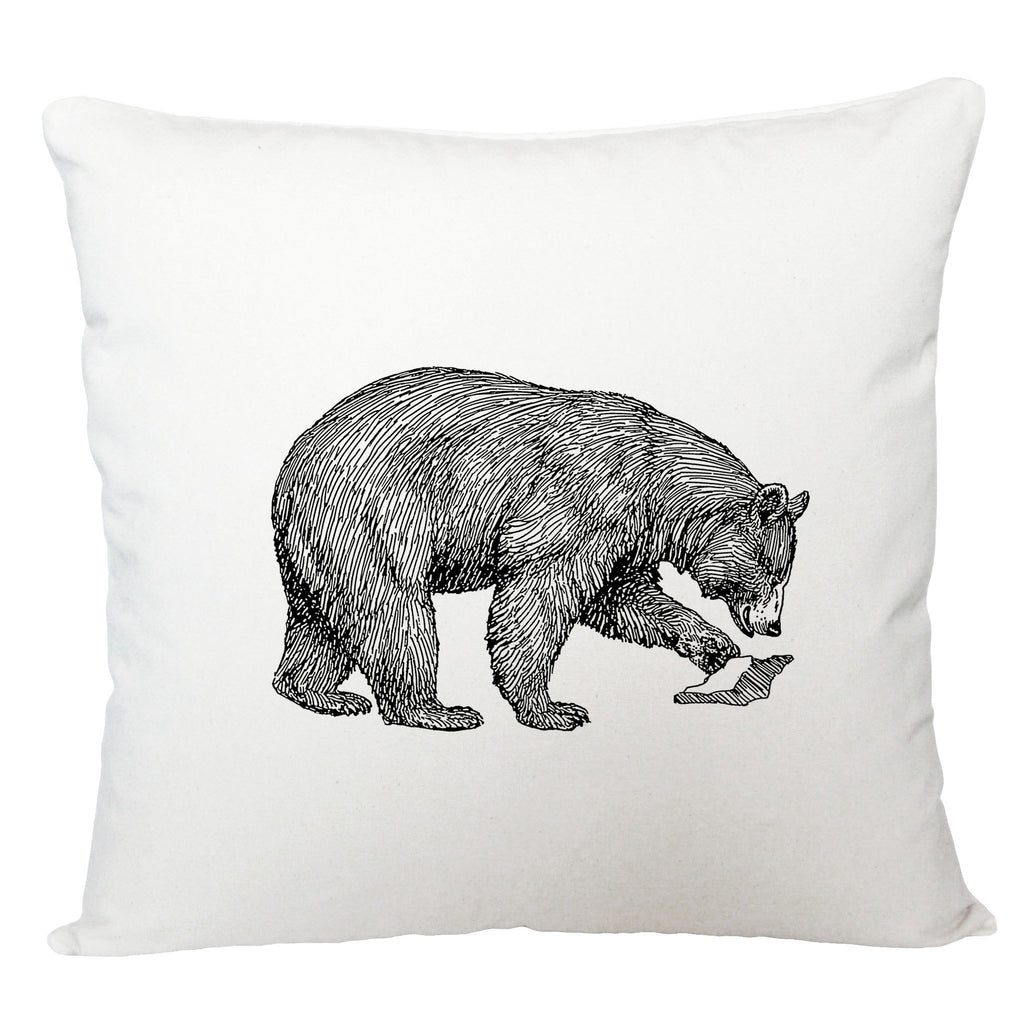 Bear cushion cover/ sketched bear