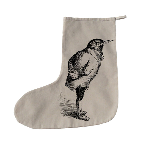 Bird in a suit Christmas stocking