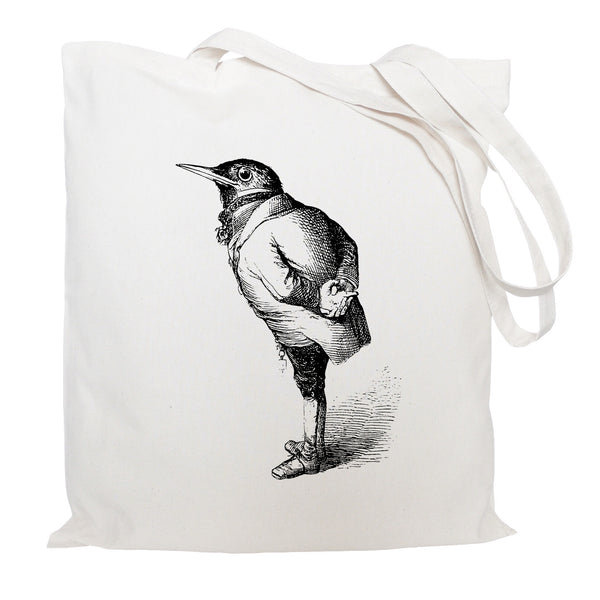 Bird in a suit tote bag