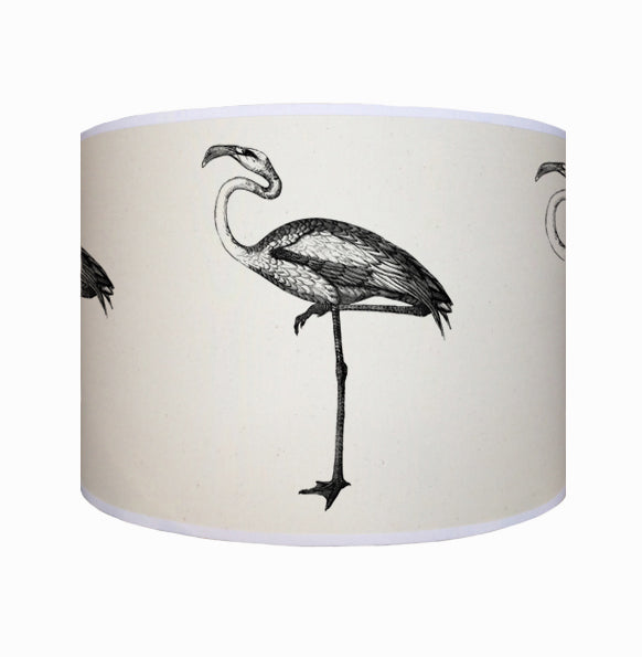 Black and white flamingo shade