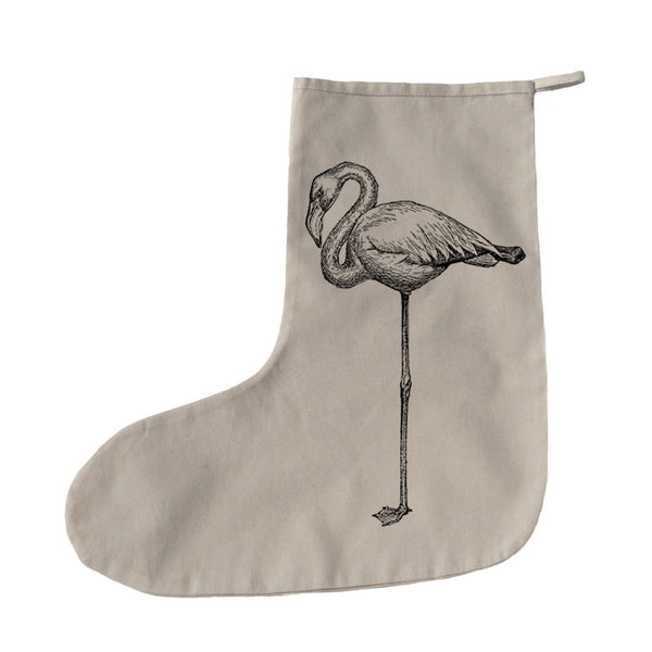 Standing flamingo Christmas stocking