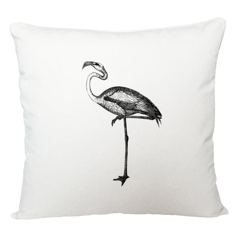 Black and white bird cushion cover