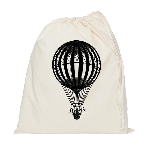 Flag hot air balloon drawstring bag