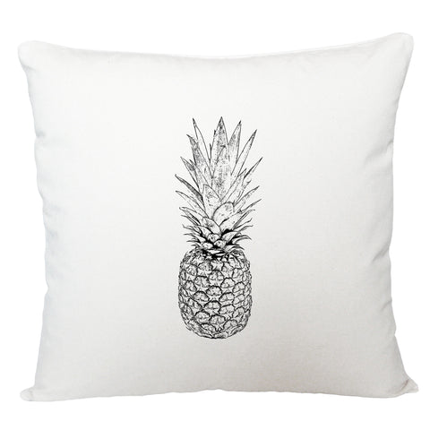 Black and white pineapple cushion cover