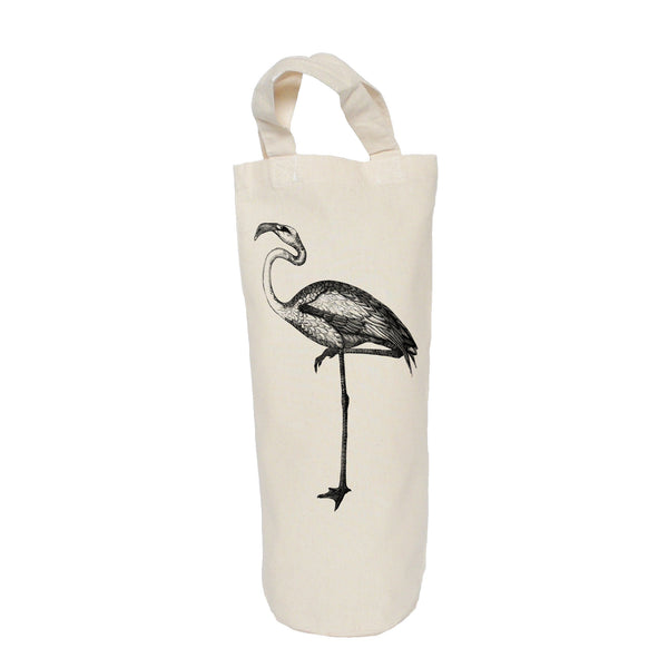 Black and white bird bottle bag