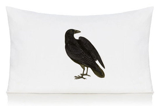Black bird pillow case
