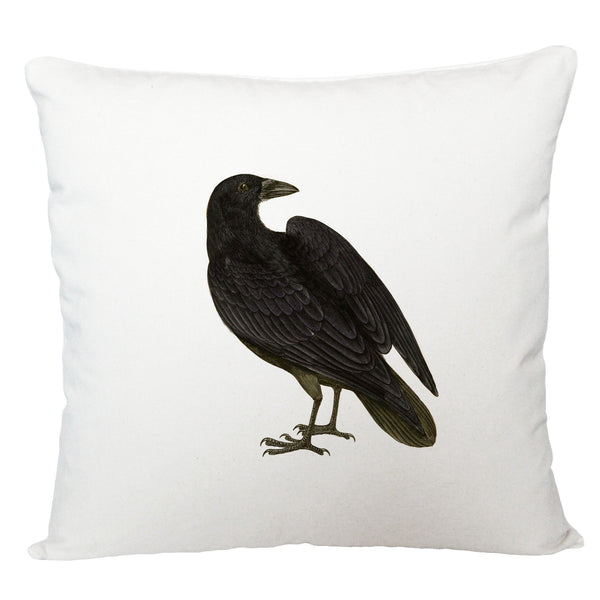 Black bird cushion cover
