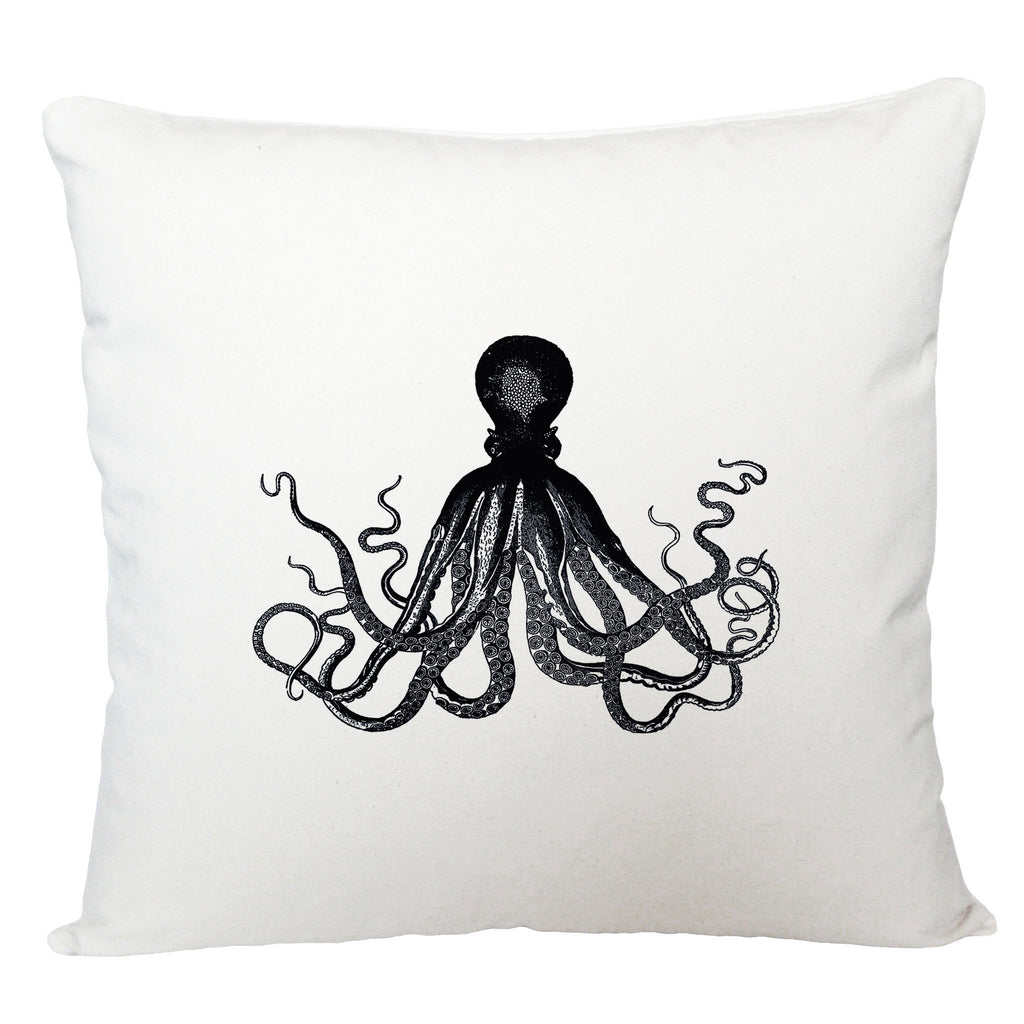 Black octopus cushion cover