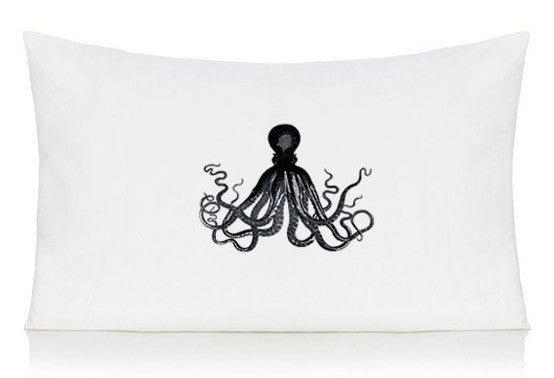 Black octopus pillow case