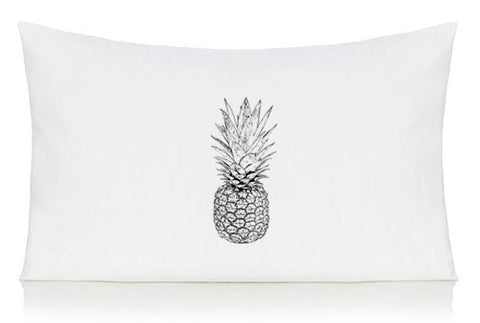 Black and white pineapple pillow case