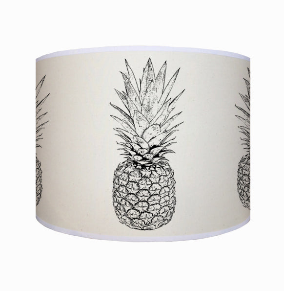 Black and white pineapple shade