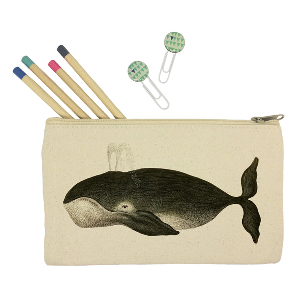 Black whale pencil case