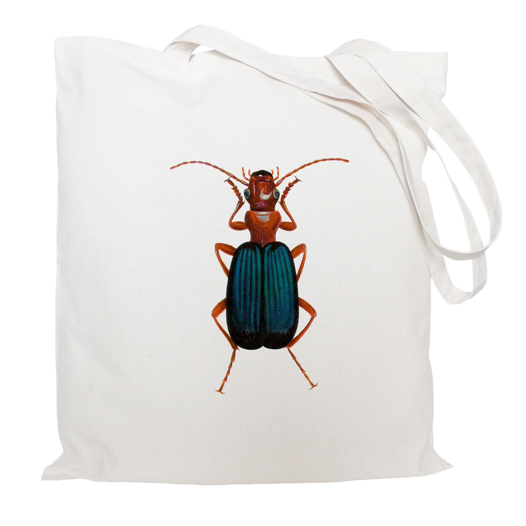 Blue beetle tote bag