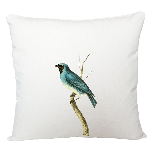 Blue bird cushion cover