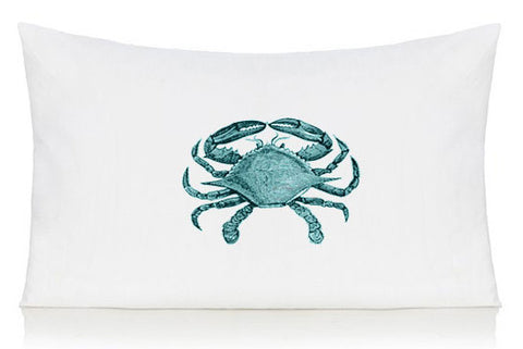 Blue crab pillow case