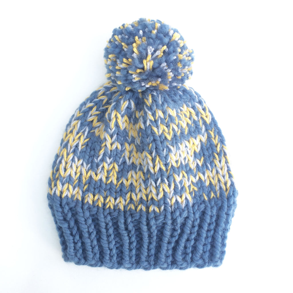 Blue mix woolly hat