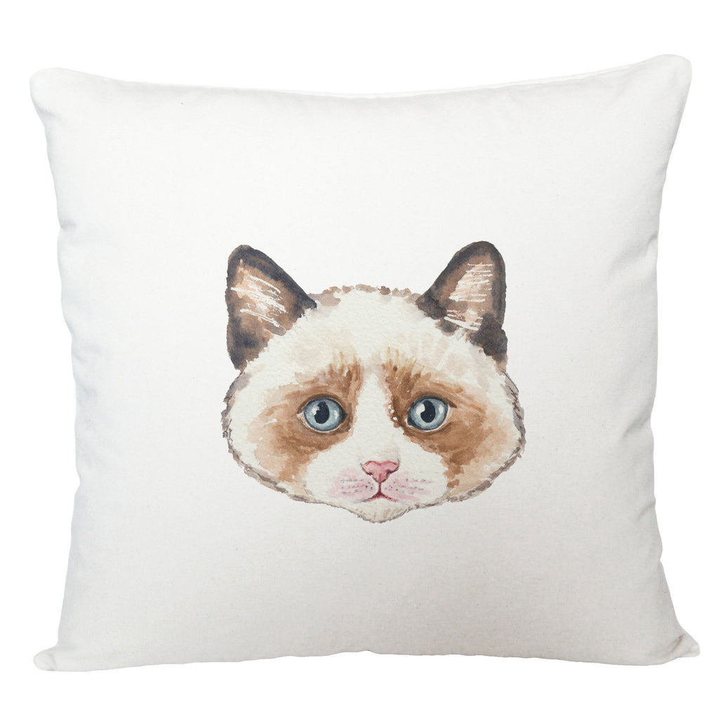 Brown cat cushion cover