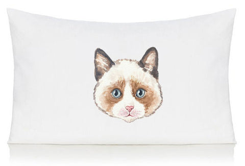 Brown cat pillow case