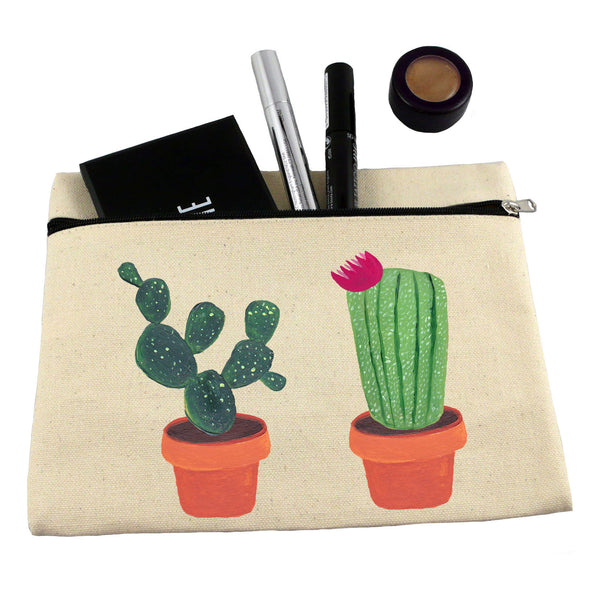 Cactus make up bag/ pencil case